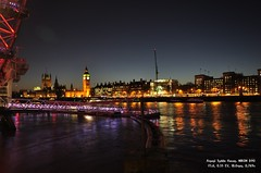 Thames At Dusk (Amani Hasan) Tags: thames london nightview river bigben clock
