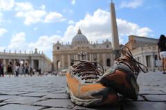 Arrivati!! (martinamercuri@rocketmail.com) Tags: rome roma viafrancigena francigena sanpietro arrivati 2016 travel cammino basilica