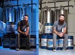 Strobe vs Natural Light (Theresa Thompson) Tags: strobe natural light explore strobist cto brewer brewery keg birdboy
