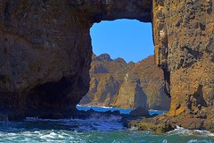 View through the hole (Kirt Edblom) Tags: loreto loretomexico mexico villadelpalmar bcs bajacaliforniasur danzantebay bajacalifornia seaofcortez 2016 islandsofloreto isladanzante rocks rock arch rockformation scenic sea water waves waterscape gulfofcalifornia gaylene wife milf easyhdr hdr nikon nikond7100 nikkor18140mmf3556 gilf kirt kirtedblom edblom danzantetours baja blue bluesky outdoors outdoor vacation landscape