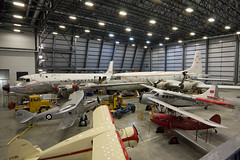 Reserve Collection hangar at the CASM (atg3v) Tags: canada canadaaviationandspacemuseum casm yro cyro ontario ottawa rockcliffe cl28 argus 10642 dhc3 otter 9408 waco gxe cgafd vks7f cflwl hawker hind l7180 canadair c54 north star 17515 preserved airliner argonaut aviation