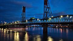 Portland (dr_scholz@ymail.com) Tags: portland oregon portlandor bridge hawthorne night light reflection verticalliftbridge lighttrail downtown leicam9 summicron 28mm f2 asph