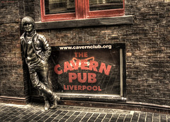John Lennon (Billy McDonald) Tags: hdr johnlennon thebeatles thecavern liverpool wall statue