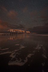 Frisco at Night (Sandra Herber) Tags: night stars northcarolina astrophotography outerbanks hatterasisland friscopier capehatteraspier