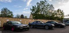 s14a, GTR and Evo (stuarthomas_) Tags: cars japan skunkworks jap jdm motorsport drift gtr stance r32 carporn s14 r32gtr japspeed s14a stanced drivendaily cargang stanced200sx drifteddaily