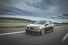 Golf 6R on Golden BBS LM (mike.mkiv) Tags: car vw golf volkswagen geneva low bbs lemans rolling stance 6r mk6 lowattitude