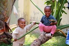 Onze twee kleinste: Junior en Elisha