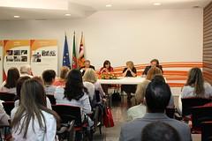 Teresa Leal Coelho numa iniciativa das MSD em Lisboa