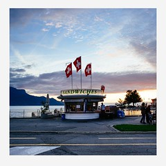 Chronocide : Polaroid Vision (ongoing project) Vevey, Switzerland, 2014  2014 Gerald Verdon #chronocide #polaroid #sky #streetphotography #switzerland #flag #vaud #vevey (Gerald Verdon) Tags: mall square supermarket chronocide instagram ifttt