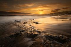 Golden Sand (Tony N.) Tags: france vende sauzaie bretignollessurmer paysdeloire beach plage sand sunset coucherdesoleil sea mer fil rochers rocks d810 nikkor1635f4 vanguard tonyn tonynunkovics