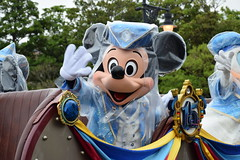 """Mickey Mouse in a raincoat : ) / """"The Year of Wishes"""" Greeting Drive / #Tokyo #DisneySea #TDS (haphopper) Tags: rain weather drive character disney mickey entertainment rainy 15th themepark tokyodisneysea big5 tds 2016 tdr  tokyodisneyresort charactergreeting big8   rainyversion tds15thanniversary"""