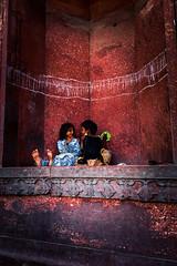 Scarlet Songs (blank whole) Tags: girls india sandstone delhi slum jama