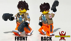 Cheers, love! (Saber-Scorpion) Tags: lego minifig minifigures moc brickwarriors tracer overwatch