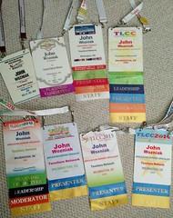 TLCC badge collection (Tessitura Network) Tags: tessnet tessitura tlcc2016 badges