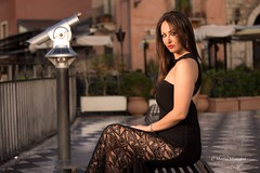 Sunrise in Taormina - with my love, my wife.. (Mario&Dalila) Tags: portrait cto offcamera speedlite canon taormina alba sunrise model love wife