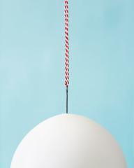 (| Les Hirondelles |) Tags: balloon concept hurt needle pin sharp stilllife white minimal surreal pastel pale