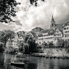 river journey (OH-Photography) Tags: city tbingen blackandwhite sw square 11