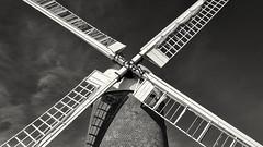 Wilton Windmill (Colin de Fraine) Tags: windmill wind sails building structure blackandwhite monochrome tower symmetry wilton marlborough hungerford diagonal geometric