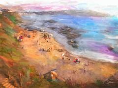 Playa Quintero (Diez Visualcreativo) Tags: chile digital photoshop atardecer mar foto arte playa colores alejandro pintura retoque diez fotografico quintero fotopintura photoshopcreativo visualcreativo