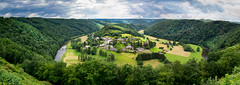 Frahan (Jan Moons) Tags: panorama clouds forest river landscape town ancient village belgium outdoor hill ardennen bent landschap ardens frahan