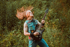 IMG_5236 (rodinaat) Tags: longhair longhairman longhairedman longhaired beard bearded metal metalhead powermetal trashmetal guitar musican guitarplayer brutal forest summer sun