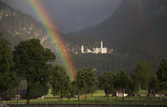 finite disappointment, infinite hope (cherryspicks (intermittently on/off)) Tags: travel castle weather germany landscape rainbow landmark neuschwanstein schwangau
