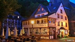 Monschau by night (01) (Ld\/) Tags: voyage old city trip night germany deutschland town nuit allemagne hdr monschau ville citytrip allemande montjoie