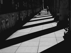 """Rsistance"", Christian Boltanski (1993/94) (Greyframe) Tags: mnchen rote kapelle resistiance widerstand ns deutschland germany light licht fade lost fading sun dark greyframe schwarzweiss blackandwhite monochrome blackwhite white architecture street pillar art kunst haus house museeum love column scene woman stone shadow"