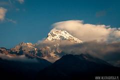 Widok na Annapurn (www.wlasnadroga.pl) Tags: nepal himalya abc annapurna wlasnadroga trekking