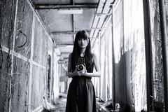 Mystery place. () Tags: leica m9 rangefinder rf voigtlander vm35 35mm f14 monochrome bw bokeh hongkong hk adventure abandoned   portrait girl