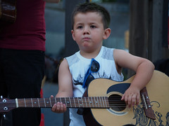 Little guy, big talent. (madeleine_nik) Tags: boy guitar performance cute portrait jazzfest beachesjazzfest toronto