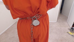 DJI_0216 (boblaly) Tags: orange prison prisoner jail inmate handcuffs cuffed shackled shackles chains chained restraints detention convict arrested belly chain jumpsuit uniform