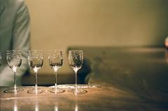 Weekend Drink (Thomas T. H. Chan) Tags: drink glass roppongi bokeh tokyo japan leica m summicron 50mm rigid fujifilm pro400h film