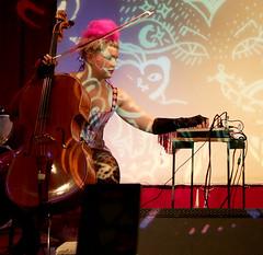 rockcamp3 (zuzu knew) Tags: rockcampforgirlsmontreal syngja cello keyboard projections langamma lasalarossa montrealband montrealmusic fringe costume zuzuknew