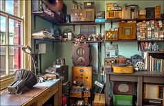 Black Country Radio workshop 2 (Darwinsgift) Tags: black country living museum bclm dudley birmingham radio repair workshop history retro nikkor 20mm f18 g