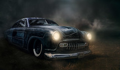 Blaues Monster (ellen-ow) Tags: amicar auto hotrods kustomkulture oldtimer ratrod car verkehr licht light night nacht ellenow traffic fahrzeug