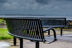 Everyone Have A Seat!! (BGDL) Tags: lightroomcc afsnikkor55200mm1456g bgdl landscape seascape nikond7000 bench longbench troon 7daysofshooting week3 metallic focusfriday