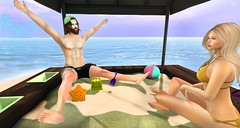 playdate (aarontj90) Tags: boo sandbox playdate sand beach sandcastle fun yay friends summer cool hipster jesus sl secondlife pumpkin mesh tmp lamb