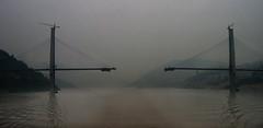 I hope they match! (Jamie B Ernstein) Tags: yangtze rivr bridge water night dusk smog china sichuan reflection drama panorama sillouette nikon asia
