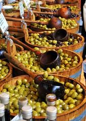 Market olives (ddietz) Tags: food barrel olives london color d300 cooking boroughmarket market