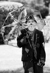 zantiny (timp37) Tags: black white illinois august 2016 summer zantiny clown showmens rest woodlawn cemetary forest park