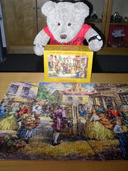 It wuz old, but it wuzzn't smelly! (pefkosmad) Tags: jigsaw puzzle hobby leisure pastime vintage complete costumesthroughtheages georgeiii17601820 goodwingoldencasket 400pieces tedricstudmuffin teddy bear ted stuffed toy fluffy plush soft