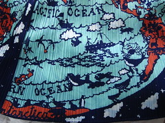 World Map Textile Dress Detail Issey Miyake Japan (eriagn) Tags: japan japanese designer isseymiyake pleatsplease dress textile pleats folkart worldmap french americas newzealand playful images whale bear penguin antarctica wedding clous sheep boat tropical orangs teal midnightblue limitededition ourwedding waves ocean pacificocean ngairehart ngairelawson eriagn travel wanderer explore adventure discover wanderlust