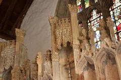 Llantwit Major, Glamorgan (Vitrearum (Allan Barton)) Tags: llantwitmajor church medieval reredos altarpiece perpendicular imageniches