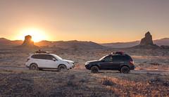Foresters in the desert. (mnlphotography) Tags: subaru wrx sti forester subaruforester xt foresterxt 7dmarkii 7dmark2 tokina tokinaaf1224mmf4 tokina1224mm sunset trona tronapinnacles
