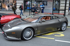 Strike It Silver (dhcomet) Tags: london supercar stryker c8 preliator silver sports expensive regent street gumball rally