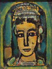 Oriental Queen, 1945 (Jonathan Lurie) Tags: oil painting art museums museum wisconsin canvas milwaukee mam georges rouault artinmuseums georgesrouault milwaukeeartmuseum milwaukeewisconsin oilpainting oiloncanvas unitedstates us