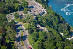 Niagara Falls: From Above (A Great Capture) Tags: ig agreatcapture agc wwwagreatcapturecom adjm on ontario canada canadian photographer northamerica ash2276 ashleylduffus ald mobilejay jamesmitchell summer summertime 2016 river road niagarafalls fromabove gorge skylon tower cars people birdseyeview trees treetops water street curvy agua eos digital colours colors waterfall