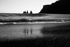 Vik, Iceland (Adam Garelick) Tags: 2014 35mm 100 blackandwhite bw digital iceland leicam9 monochrome