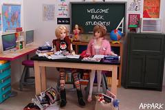 Back 2 School: A Lizzy 'n' Hermione Short 1 (APPark) Tags: dolls dioramas 16scale school momokos lacymodernist preppygirl books classroom